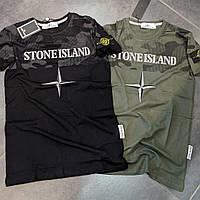 Мужская футболка Stone Island CK19 хаки, фото 1