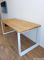 ТОП! Стіл лофт V-10, ДУБ, 1800*900 (полоса). Меблі лофт.