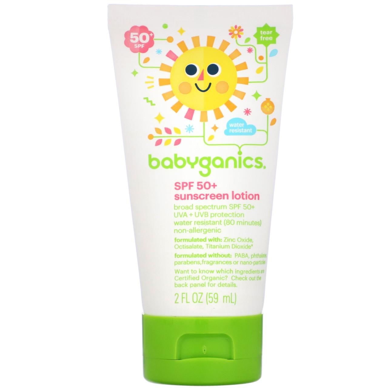 "Дитячий сонцезахисний лосьйон BabyGanics ""Sunscreen Lotion SPF 50+"" (59 мл)"