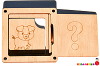 Заготовка для Бизиборда Угадай Кто Там? ХРЮШКА Свинка Животные Дверки віконце дверцята для бізіборда