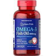Полиненасыщенные жирные кислоты Omega-3 Fish Oil 1000 mg (100 кап) Puritan's Pride