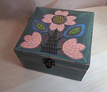 Деревянная шкатулка для украшений ручная роспись