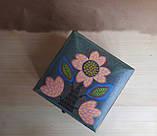 Деревянная шкатулка для украшений ручная роспись, фото 3