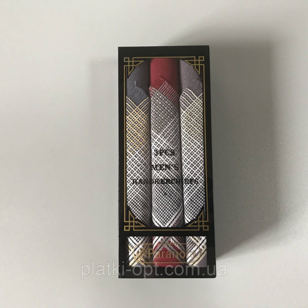 Мужской носовой платок в коробке (сатин)