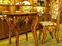 Мебель из массива дерева с резным гарнитуром, фото 1