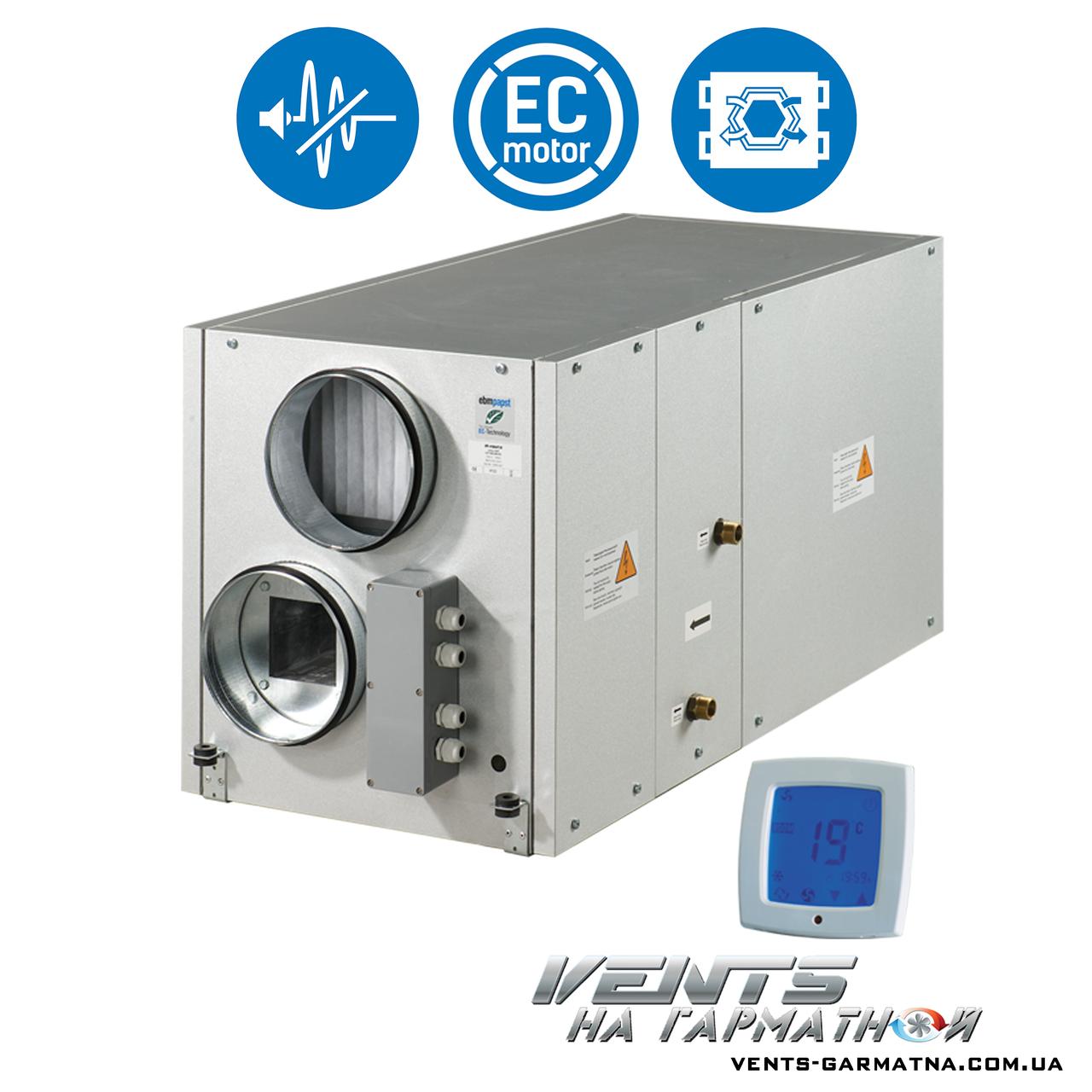 Вентс ВУТ 300-1 ВГ ЕС. Приточно-вытяжная установка с рекуператором.