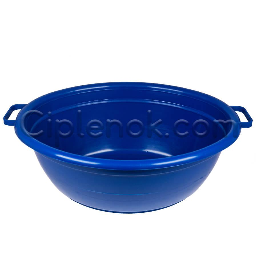 Таз овальный пищевой на 25 л (синий)