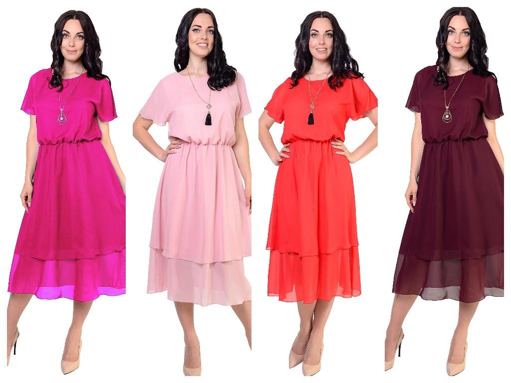 Летнее платье, фасона который идеально подчеркнет вашу женственность, четыре цвета, р.46,48,50,52 код 1958М