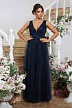 Нарядное платье в пол синее Вайнона, фото 2