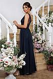 Нарядное платье в пол синее Вайнона, фото 3