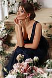Нарядное платье в пол синее Вайнона, фото 6