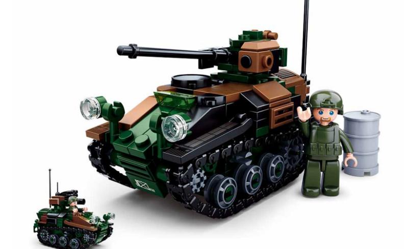 Конструктор Sluban M38-B0750 Army Армия Бронетранспортёр 245 деталей