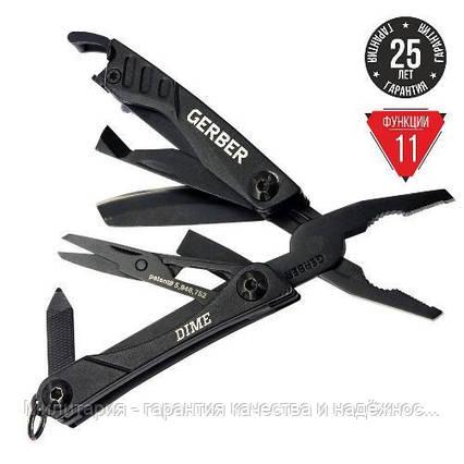Мультитул Gerber Dime Micro Tool чорний блістер, фото 2