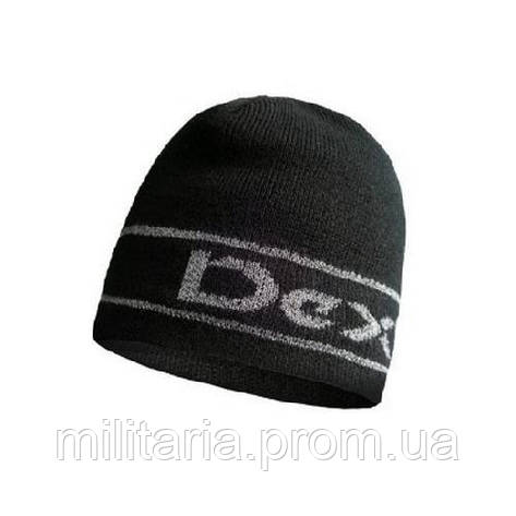 Шапка водонепроникна Dexshell Beanie Reflective Logo  чорна з лого L/XL 58-60 см, фото 2