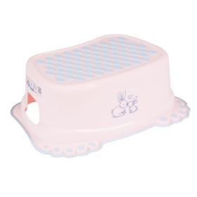 Подставка ступенька для умывания и унитаза Tega Little Bunnies нескользящая 104 light pink