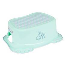 Подставка ступенька для умывания и унитаза Tega Little Bunnies нескользящая 105 light green