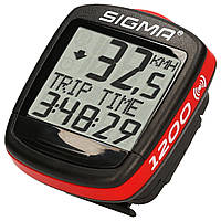 Велокомпютер бездротовий Sigma Sport Base 1200 WL Black-Red SKL35-187535