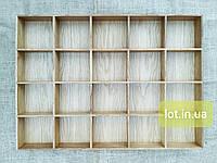 Органайзер для аксессуаров из дуба Lot 120 800х400 (индивидуальные размеры), фото 1