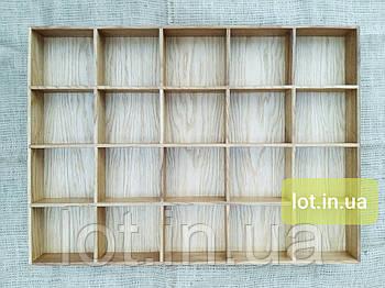 Органайзер для аксессуаров из дуба Lot 120 800х400 (индивидуальные размеры)