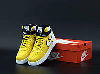 Мужские кроссовки Nike Air Force 1 AF Mid White Yellow