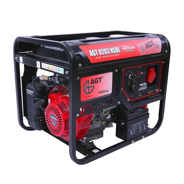 Трехфазный бензиновый генератор AGT 8203 HSBE TTL (6,5 кВт)