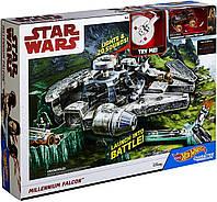 Большой Трек Хот Вилс Звездные войны Hot Wheels Star Wars Falcon Trackset Mattel DWM85