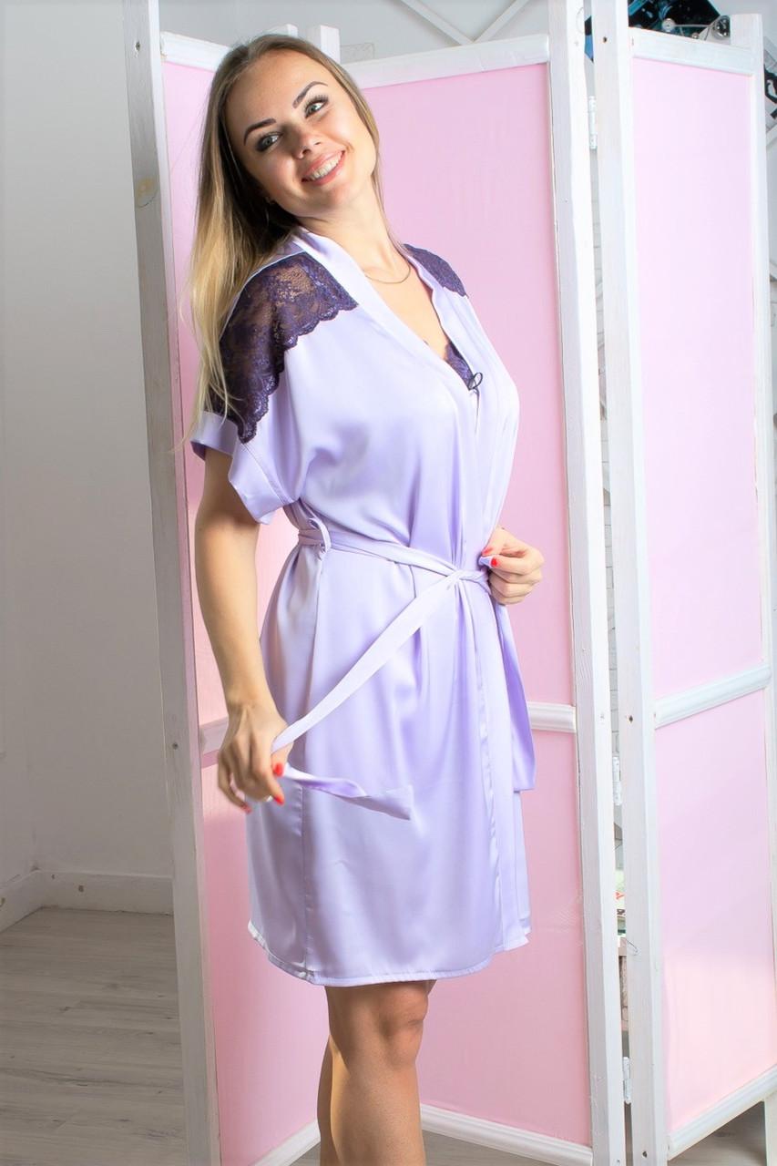 Женский халат для дома Х1007 Лаванда