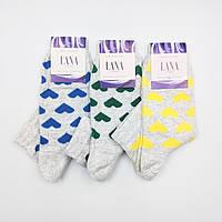 Женские хлопковые носки «Лана Сердечко»