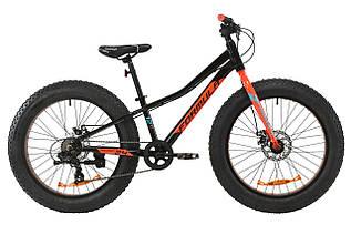 """Велосипед 24"""" Formula PALADIN DD 2020   рама-12″ (черный с красным с бирюзовым)"""