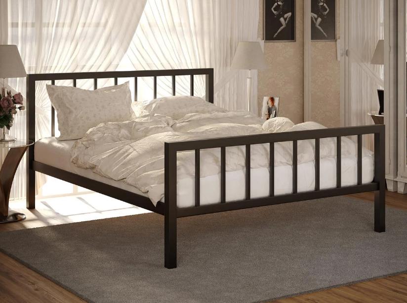 Кровать металлическая Турин 2 (Turin 2) ТМ Метакам с изножьем