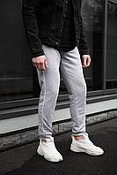 Чоловічі трикотажні штани сірі 2 смужки, фото 1