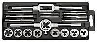 Плашки и метчики M3-M12, набор 20 шт., вольфрамовая сталь Topex 14A425