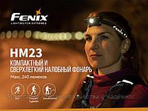 Фонарь налобный для туризма Fenix HM23 светодиодный (Феникс HM23), фото 2