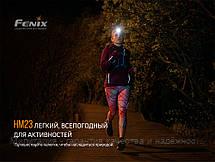 Фонарь налобный для туризма Fenix HM23 светодиодный (Феникс HM23), фото 3