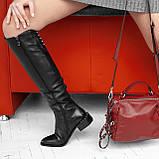 Чорні ботфорти жіночі чоботи INSHOES, фото 2