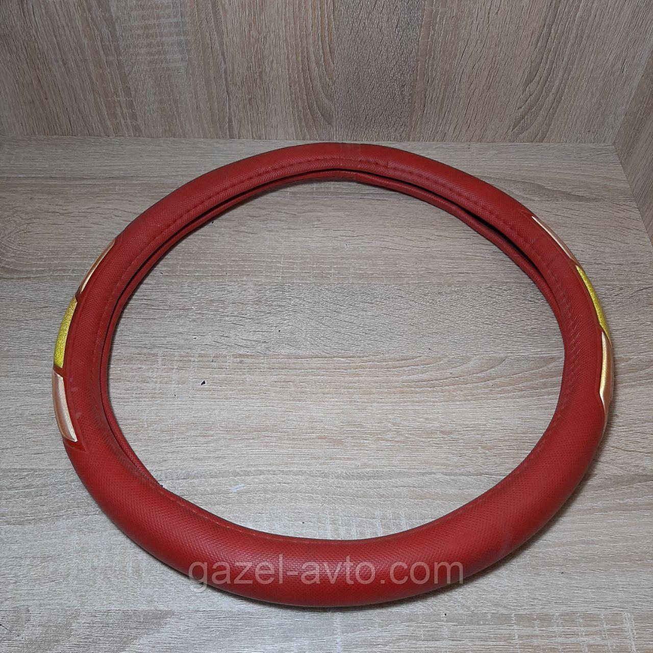 Чехол на руль (оплетка,кожух) Газель Соболь Рута L= 39-41 красный (пр-во Польша)