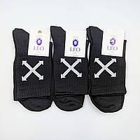 Носки мужские Лео лайкра черные OFF, фото 1
