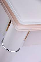 "Стол раздвижной Челси База ваниль/Стекло ваниль 750(1200)*700*760 ТМ ""AMF"", фото 2"