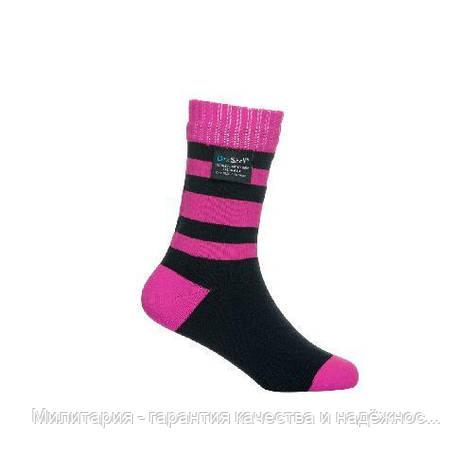 Dexshell Children soсks pink S Шкарпетки дитячі водонепроникні  рожеві, фото 2