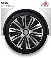 Колпаки на колеса R14, Р14 NARDO silver black