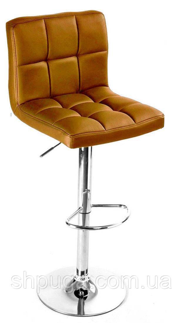 Стул  Даниэль, высокий барный стул ,  экокожа  коричневый
