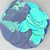 Паєтки Крапля бузкова 13х10 мм з блиском АВ 3 гр.