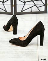 Элитная коллекция! Шикарные туфли на каблуке, итальянская замша, фото 1