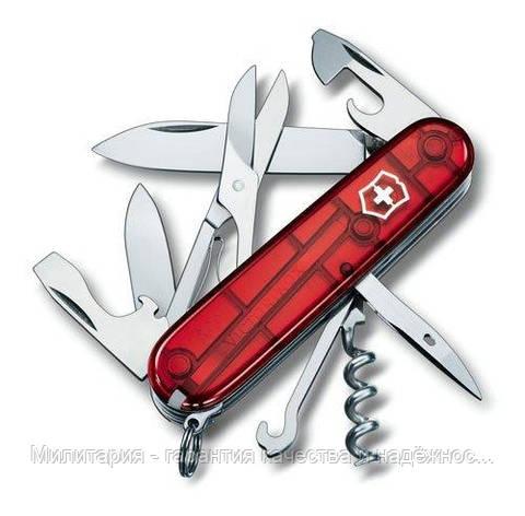 Ніж Victorinox Swiss Army Climber 1.3703.T червоний, фото 2