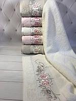 Набор полотенец, Pupilla Eva rose трикотаж 6 шт. 70х140 см. Турция