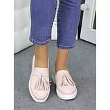 Женские туфли лоферы кожа пудра 7260-28, фото 2