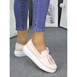 Женские туфли лоферы кожа пудра 7260-28, фото 3