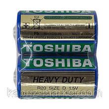 Батарея Toshiba R20 синя, D (2/20)