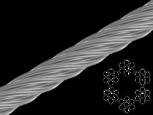 Трос стальной оцинкованный DIN 3055 1.5 mm (6x7+1FC) (бухта 200 м)