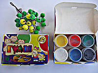 "Краски Гуашь для рисования ""Тетрада"" 6цв,10мл.Краски гуашевые  6цв,10мл.Краски для рисования и детского творче"